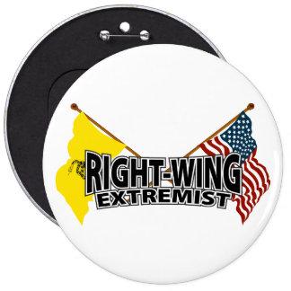 Banderas del extremista de la derecha chapa redonda de 15 cm