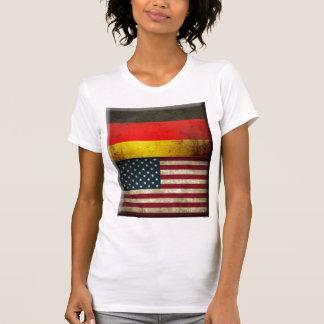 Banderas del Grunge de las mujeres Camiseta