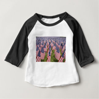 Banderas del Memorial Day Camiseta De Bebé