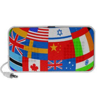 banderas del mundo altavoces de viajar