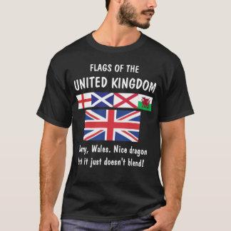 ¡Banderas del Reino Unido… País de Gales triste! Camiseta