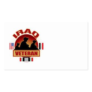 Banderas del veterinario de Iraq Tarjetas De Visita