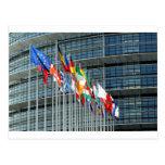 Banderas europeas tarjeta postal