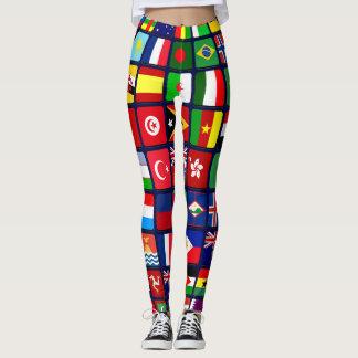 Banderas internacionales leggings