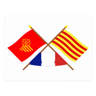 Banderas Languedoc-Rosellón y Pyrénées-Orientales Postal