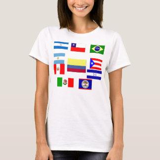 Banderas latinas camiseta