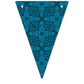 Banderas negras y azules del empavesado del