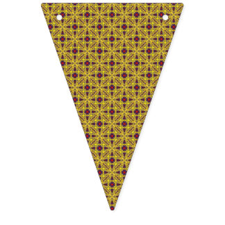 Banderas púrpuras del empavesado del caleidoscopio