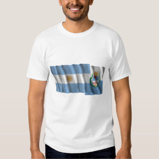 Banderas que agitan de la Argentina y de Mendoza Camisetas