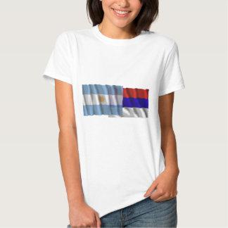 Banderas que agitan de la Argentina y de Misiones Camiseta