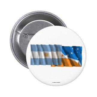 Banderas que agitan de la Argentina y de Tierra de Pin