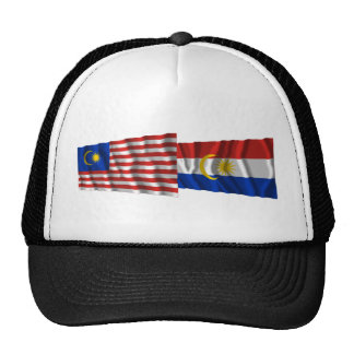 Banderas que agitan de Malasia y de Labuan Gorras De Camionero