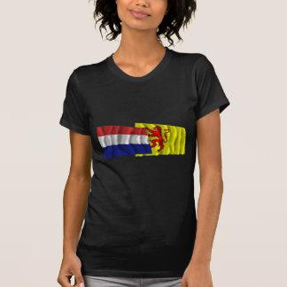 Banderas que agitan de Países Bajos y de Camisetas