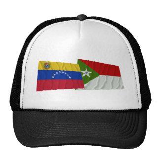 Banderas que agitan de Venezuela y de Trujillo Gorras De Camionero