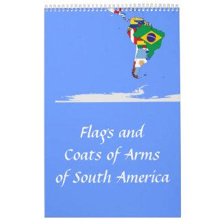banderas suramericanas calendarios