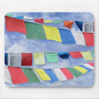 Banderas tibetanas del rezo alfombrilla de ratón