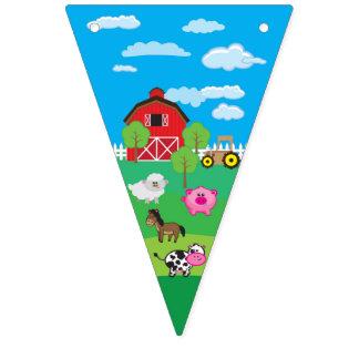 Banderines Animal del corral - granja - cumpleaños - fiesta