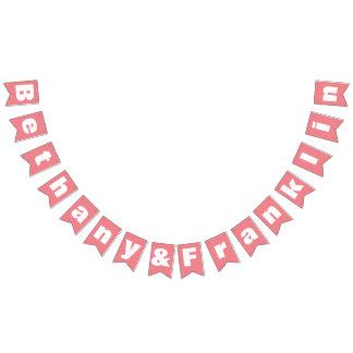 Banderines Boda coralino amelocotonado personalizado