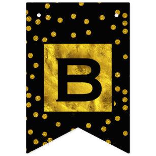 Banderines Boda de Patten de Punto de Oro Aleatorio Personali
