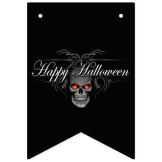 Banderines Cráneo del mal del feliz Halloween