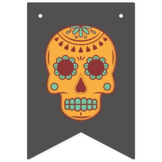 Banderines Dia De Los Muertos. Día de los muertos. Cráneo del