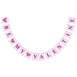 Banderines El corazón rosado sea mi oferta romántica de la