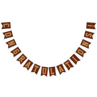 Banderines El oro de madera de caoba elegante pone letras a