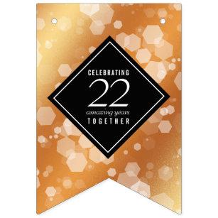 Banderines Elegante 22° aniversario de Boda de cobre
