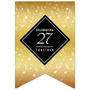 Banderines Elegante 27° aniversario de Boda musical