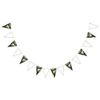 Banderines Empavesado del tema del boda de la margarita