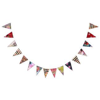 Banderines Gitano, estilo del boho, colores múltiples y