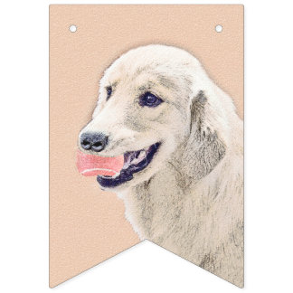 Banderines Golden retriever con arte del perro de la pintura
