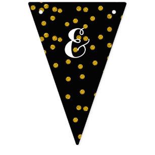 Banderines Golpe ligero personalizado casando el oro y puntos
