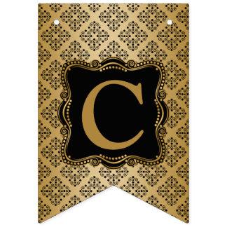 Banderines Oro y elegancia adornada del negro