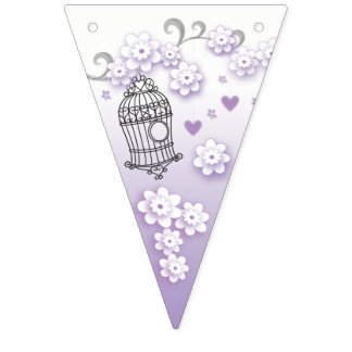 Banderines Pájaros en colores pastel del amor que casan