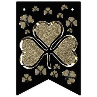 Banderines Parte negra del irlandés del oro de Irlanda de los