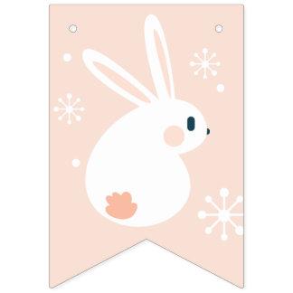 Banderines Pascua feliz. Conejito de pascua