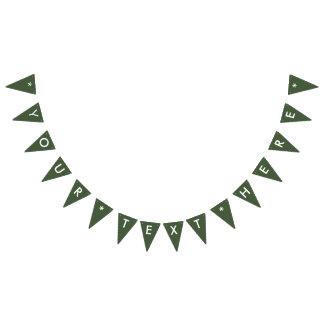 Banderines Personalizar del color sólido de Forest Green él