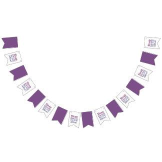 Banderines Sueño privado pero aún vivo en púrpuras