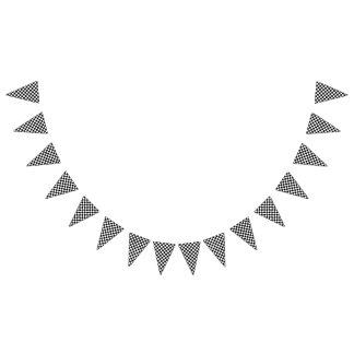 Banderines Tablero de damas blanco y negro