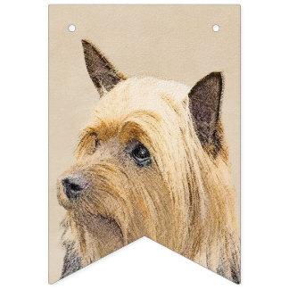 Banderines Terrier sedoso que pinta - arte original lindo del