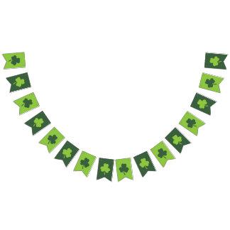 Banderines Trébol verde afortunado del día de St Patrick