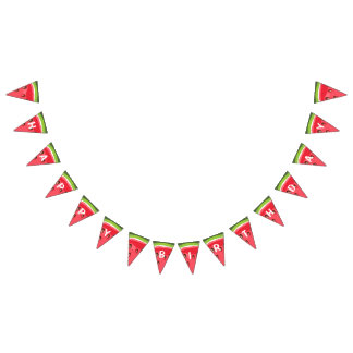 Banderines Verano del fiesta del melón del empavesado del