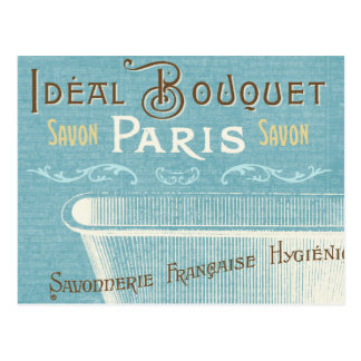 Bañera francesa azul y blanca postal