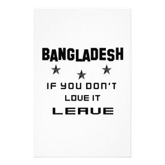 Bangladesh si usted no lo ama, se va  papeleria de diseño