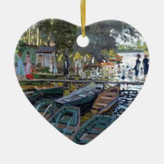 Bañistas de Monet en el La Grenouillère Ornamento De Navidad