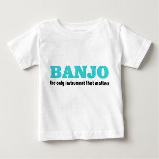 Banjo divertido que dice la camiseta del bebé