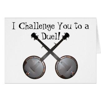 Banjos en duelo tarjetas