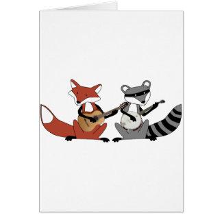 Banjos en duelo tarjeta de felicitación
