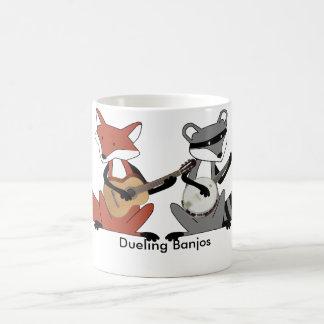 Banjos en duelo taza básica blanca